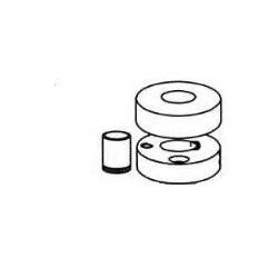 Basetta tonda a pavimento tipo inox [ST140INX]